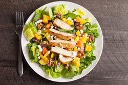 Orange Walnut Chicken Salad top view