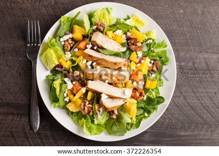 Orange Walnut Chicken Salad top view
