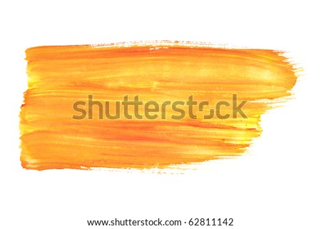 Orange watercolor brush strokes
