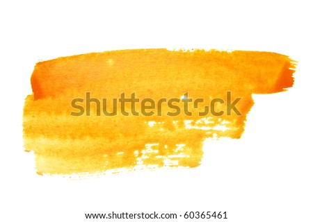 Orange watercolor brush strokes, may be used as background
