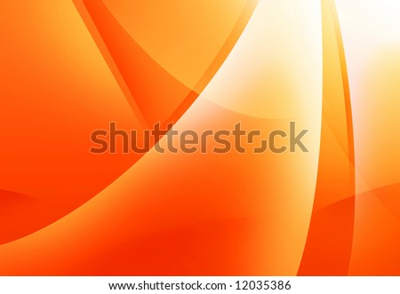Orange Wave Background