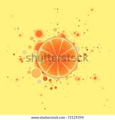 orange with dots