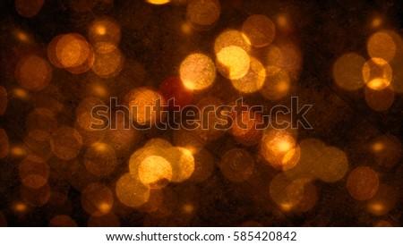 orange yellow light bokeh...