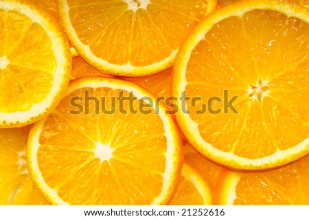 oranges background close up view
