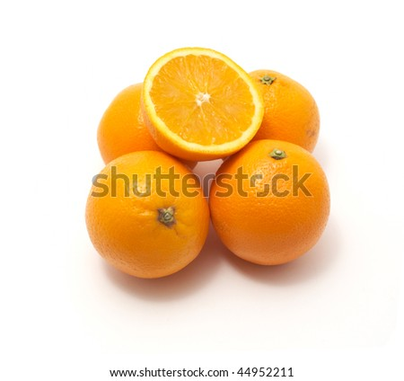 oranges isolated on a white background