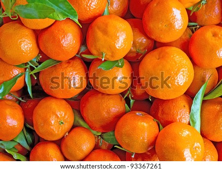 Oranges, mandarins background and texture
