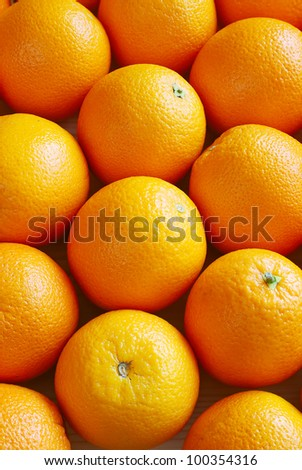 Oranges, top view