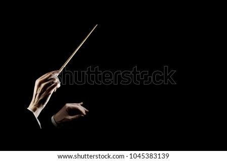 orchestra conductor music...
