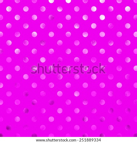 Orchid Purple Pink Metallic Foil Polka Dot Pattern Swiss Dots Texture Paper Color Background