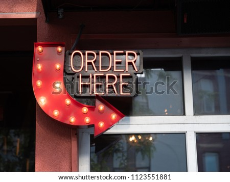 Order Here Sign #1123551881