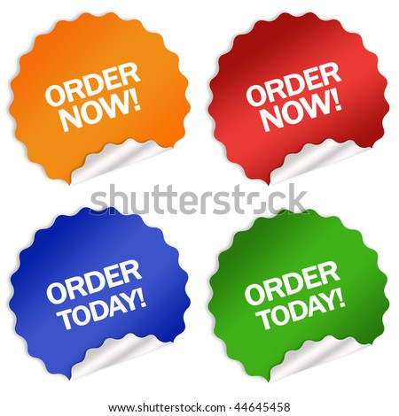 Order now today sticker