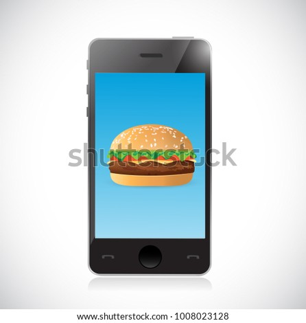 order online burger concept illustration design isolated over white