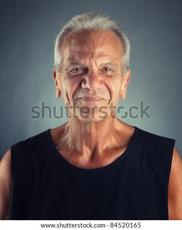 Ordinary Elderly Man Portrait