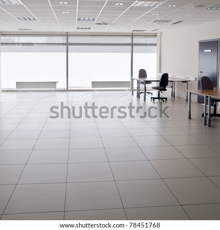 Ordinary empty modern office interior