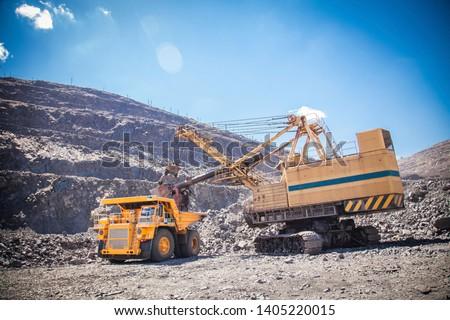 ore loading in iron ore quarry