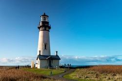 Oregon Coast Lighthouse -  Historic Yaquina Head lighthouse in Oregon, USA 1.