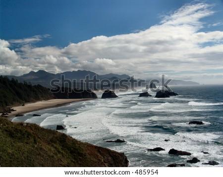 Oregon Coastline at Ecola State Park