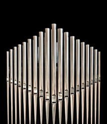 Organ pipes from a church organ
