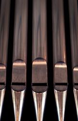 Organ pipes from a church organ