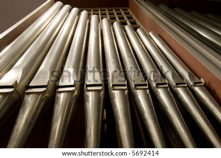 Organ pipes inside a church