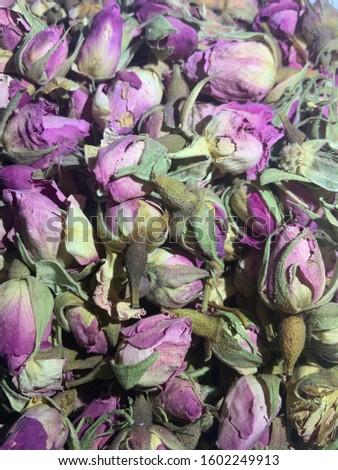 organic aromatic dried rose flowers