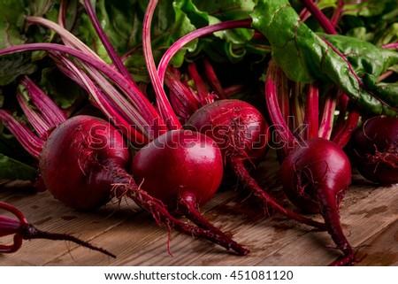 Organic Beetroot. Dark Red Beetroot.
