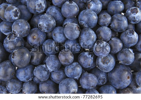 Organic blueberries background