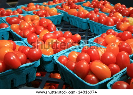 Organic Cherry Tomatoes at the Farmers Market