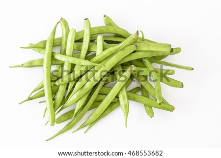 Organic Cluster beans or guar (Indian vegetable) and source of guar gum Foto stock ©