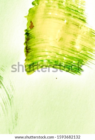 Organic Color Yellow Dirty Art Painting. Fresh Green Summer Acrylic Canvas. Lime Green Sunny Nature Friendly Life. Leafy Color Mustard Acrylic Graffiti. Grassy Color Yellow Oil Painting.
