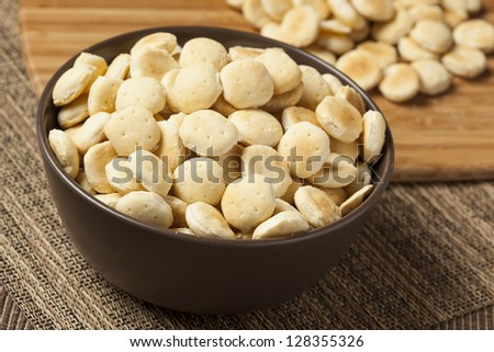 Organic Crunchy Oyster Crackers made with whole wheat