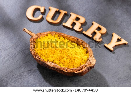Organic curry powder - Text space #1409894450