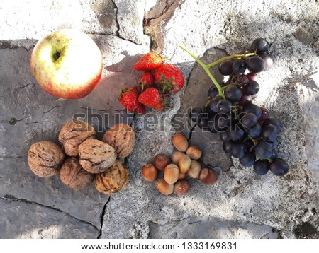 Organic domestic fruits #1333169831