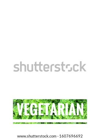 Organic food and vegetarian food logo on white background