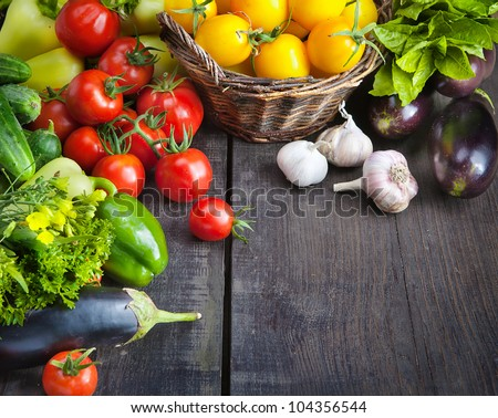 organic food background Farmers Vegetable Market