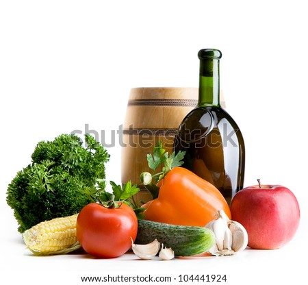 organic food background; Farmers Vegetable Market