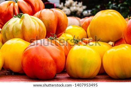 Organic food, organic tomato for healthy life  #1407953495