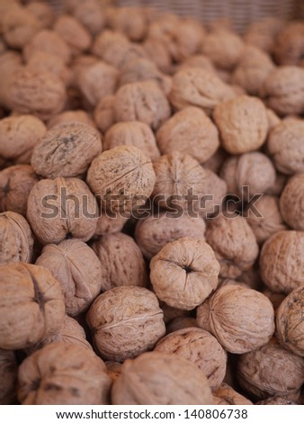 organic grown walnuts at a farmers market