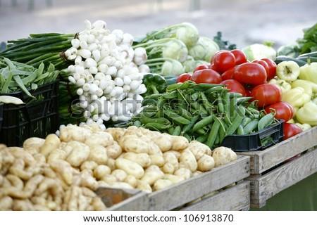 organic market - vegetables