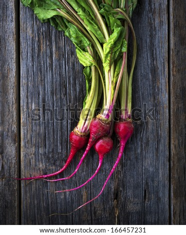 Organic miniature red candy stripe raw beets