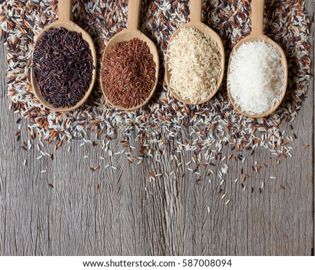 Shutterstock Organic rice, Mixed rice and Rice texture for background