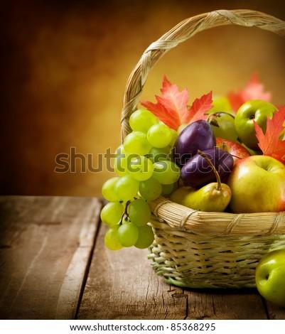 Organic ripe fruits