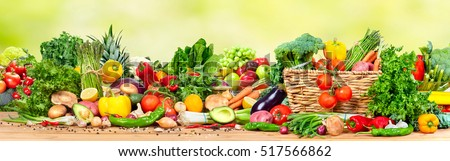 Organic vegetables and fruits #517566862