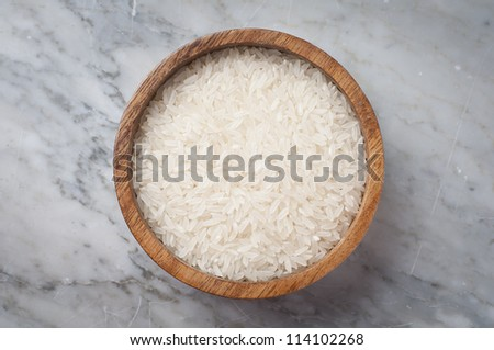 organic white rice sample