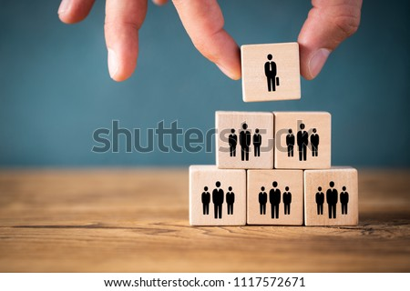 organization and team structure symbolized with cubes - Shutterstock ID 1117572671