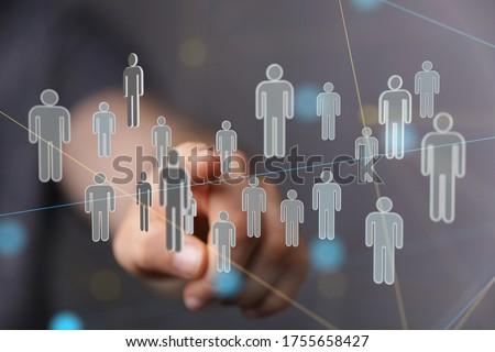 organization chart team concept networking technology. Photo stock ©