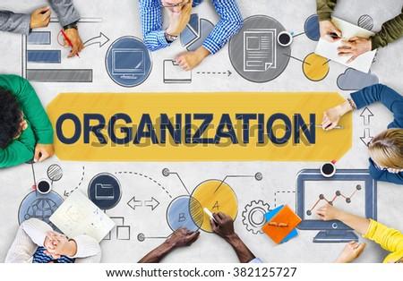 Organization Management Structure Corporate Team Concept