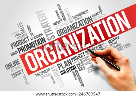 ORGANIZATION word cloud, business concept