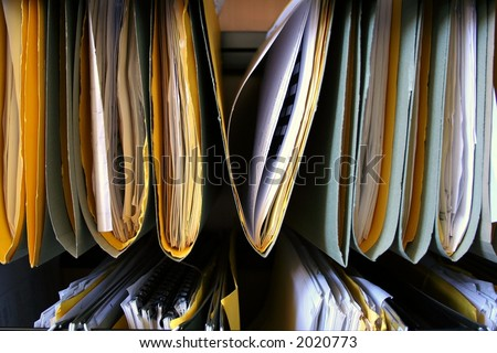 Organized files representing records management