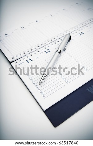 Organizer and Pen -Business planning